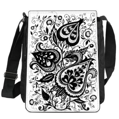 Сумка-планшет Цветочная паутина
