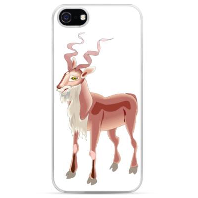 Чехол для iPhone Козел с волнистыми рогами