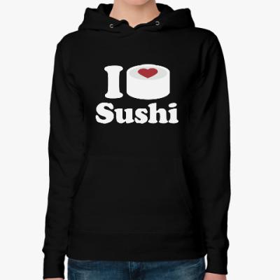 Женская толстовка худи Love Sushi