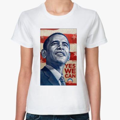 Классическая футболка  Обама