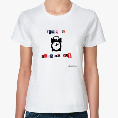 Классическая футболка Time is running out