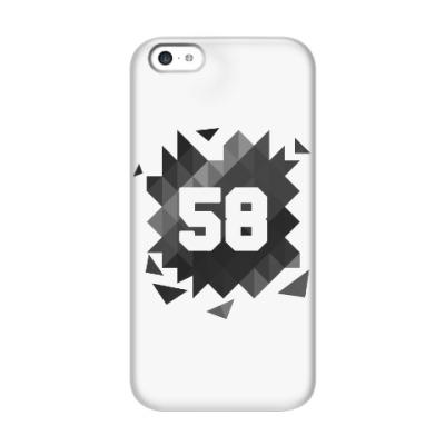 Чехол для iPhone 5c Цифра 58 (Low Poly)