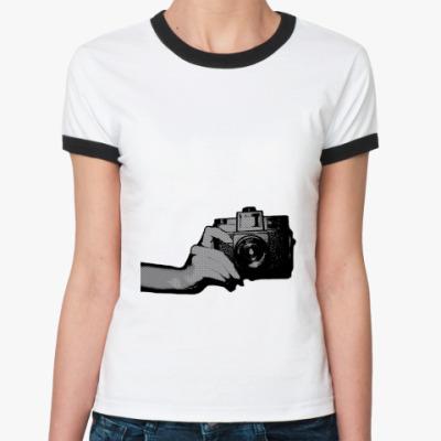 Женская футболка Ringer-T  lomohand