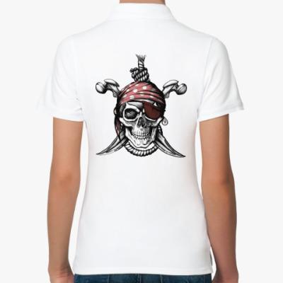 Женская рубашка поло Весёлый Роджер