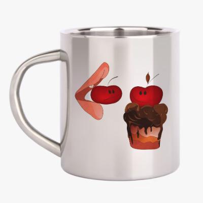 Кружка металлическая Cherry&Cake