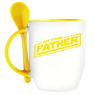Кружка с ложкой Я твой отец