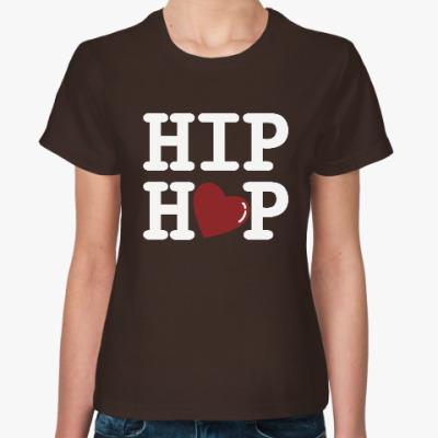 Женская футболка Люблю хип-хоп