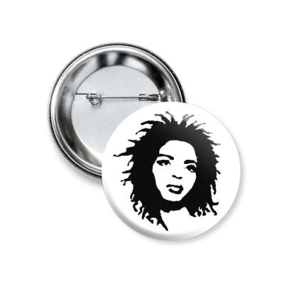 Значок 37мм Lauryn Hill
