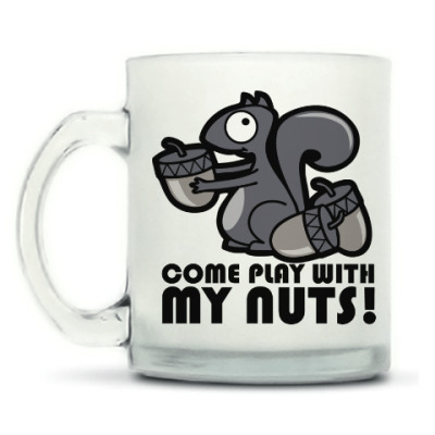 Кружка матовая Play with my nuts