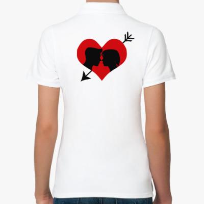 Женская рубашка поло Сердце хочет любви