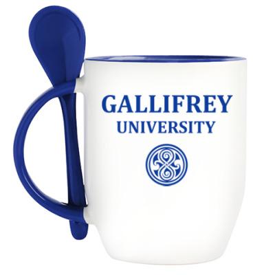 Кружка с ложкой Gallifrey University