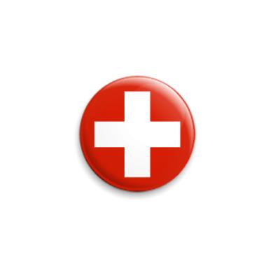 Значок 25мм  Швейцария