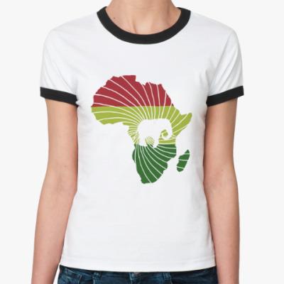 Женская футболка Ringer-T Африканский слон