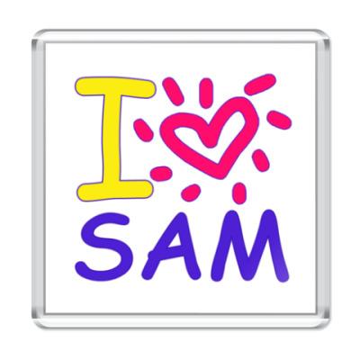 Магнит Supernatural - I love Sam