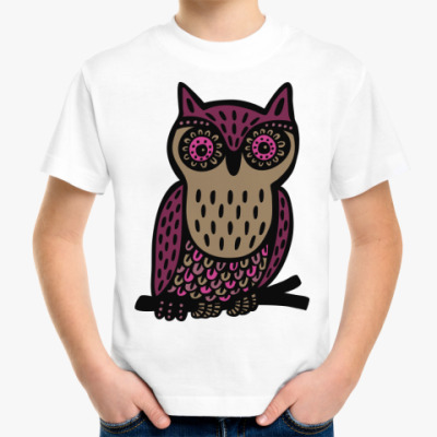 Детская футболка Сова