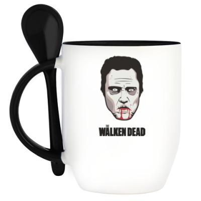 Кружка с ложкой Walken Dead