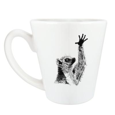 Чашка Латте Лемур