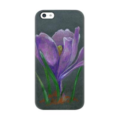 Чехол для iPhone 5c Ручной рисунок цветок крокус