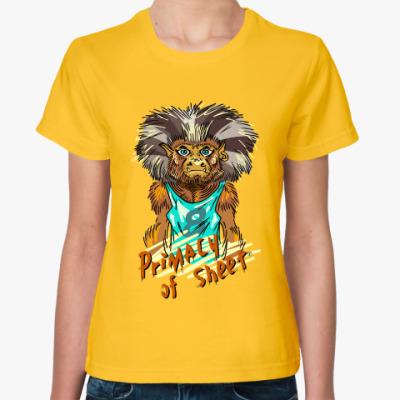 Женская футболка Примат Листа.