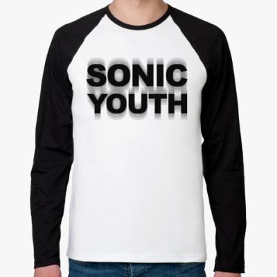 Футболка реглан с длинным рукавом Sonic Youth