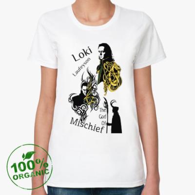 Женская футболка из органик-хлопка Локи Лафейсон