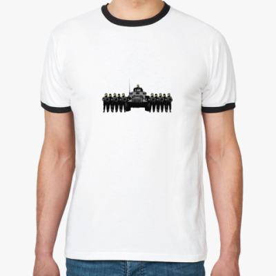 Футболка Ringer-T smiley soldiers