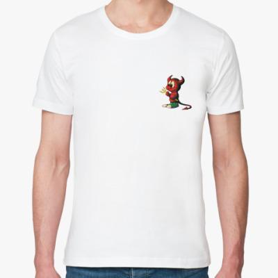 Футболка из органик-хлопка FreeBSD Red Devil