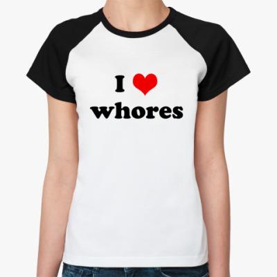 Женская футболка реглан Whores