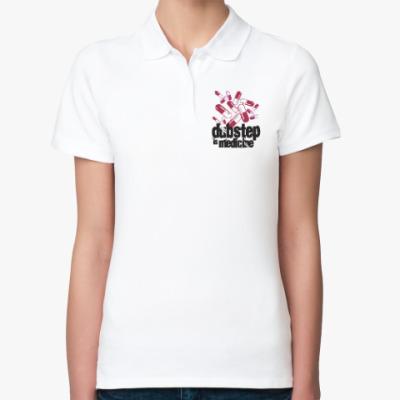 Женская рубашка поло Дабстеп медицина