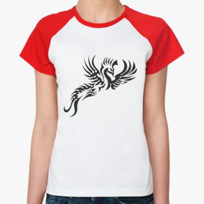 Женская футболка реглан Жар-птица