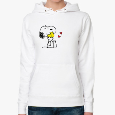 Женская толстовка худи Snoopy