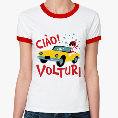 Женская футболка Ringer-T Ciao Volturi