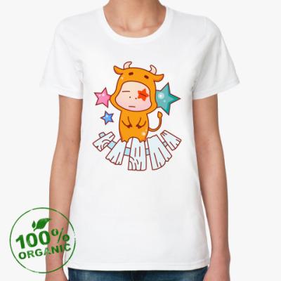 Женская футболка из органик-хлопка Знак зодиака Телец