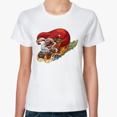 Классическая футболка Crazy Santa