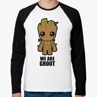 Футболка реглан с длинным рукавом We are Groot