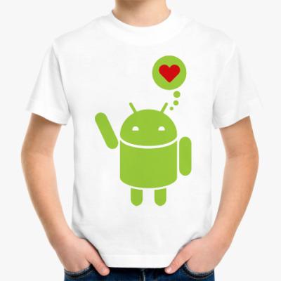 Детская футболка Love Android
