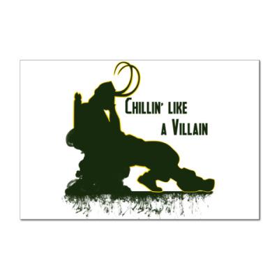 Наклейка (стикер) Chillin like a villain