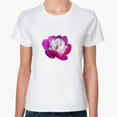 Классическая футболка Нежный пион
