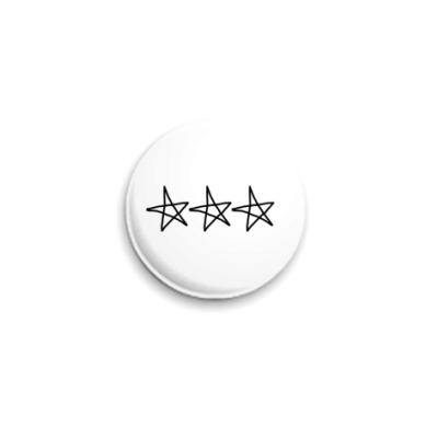 Значок 25мм Stars