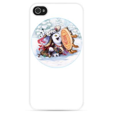 Чехол для iPhone Сова - сибирский шаман