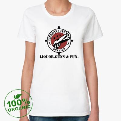 Женская футболка из органик-хлопка Grand Theft Auto - Gun Club