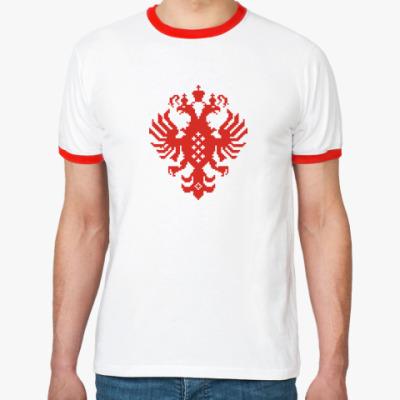 Футболка Ringer-T Герб Российской империи