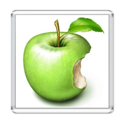 Магнит Надкушенное зеленое яблоко