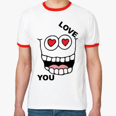 Футболка Ringer-T Love you