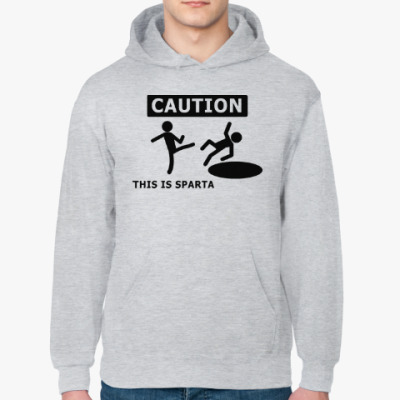 Толстовка худи Caution: this is Sparta