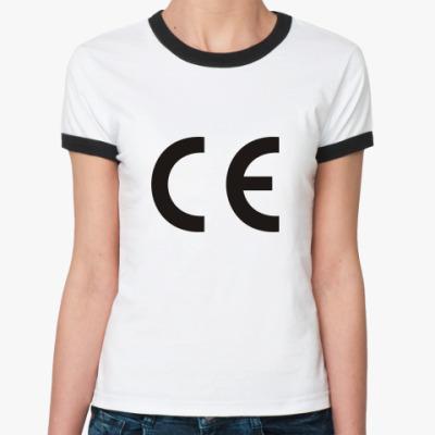 Женская футболка Ringer-T Евростандарт
