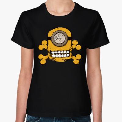 Женская футболка Череп Миньона