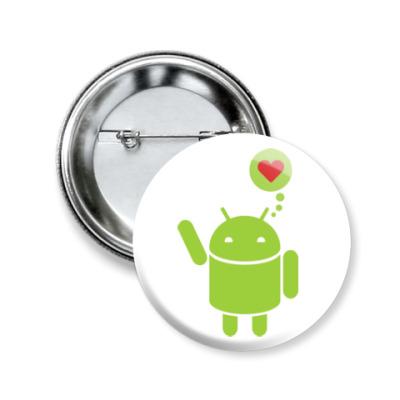 Значок 50мм Love Android