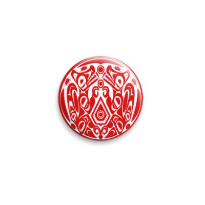 Значок 25мм Quileute red  25 мм