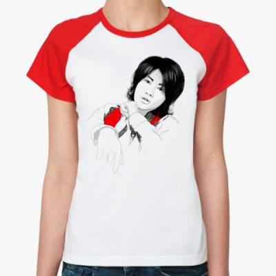 Женская футболка реглан   Джин